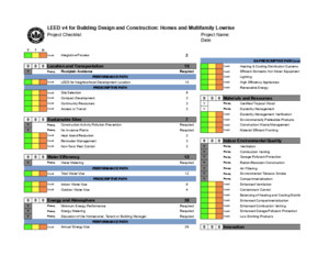 LEED v4 for Homes Design and Construction Checklist