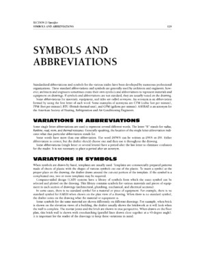 Legend Symbols and Abbreviations