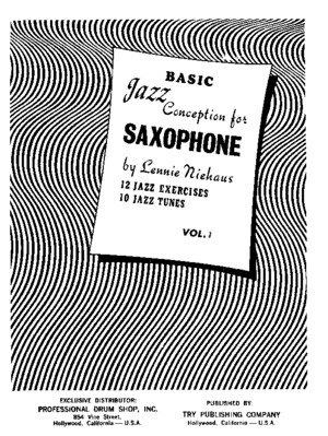 Lennie Niehaus - Jazz Conception for Saxophone 1 - Sax pdf