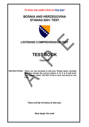 Listening Comprehension Test STANAG 6001
