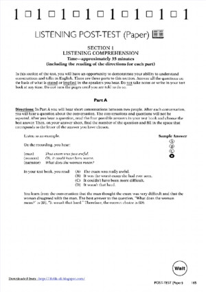 Listening Post test Longmanpdf