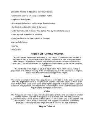 Literature Form 1 - King Arthur Synopsis - Download Education