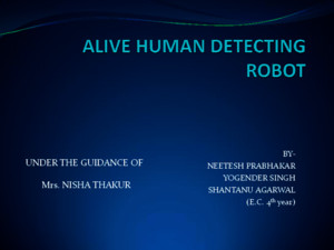 Live Human Detection Robot
