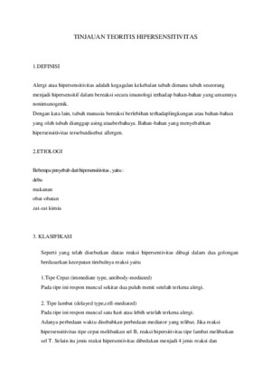 LP Hipersensitivitas
