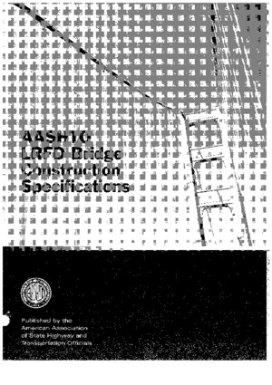 LRFD Bridge Construction Specifications-2007