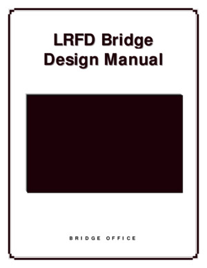LRFD - Bridge Design Manual