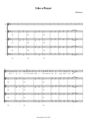 Madonna - Like A Prayer (SATB)pdf