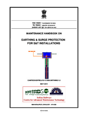 Maintenance Handbook on Earthing Surge Protection for ST Installations(1)