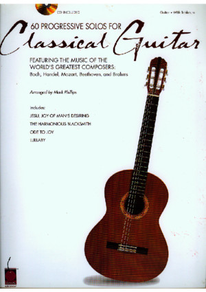 60 Progressive Guitar Solos for Classical Guitar