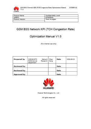 61607803 05 GSM BSS Network KPI TCH Congestion Rate Optimization Manual