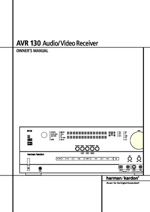Manual Harman Kardon Avr 130