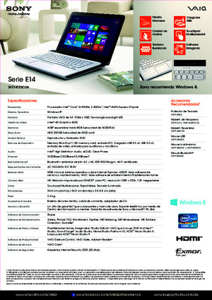 Manual Sony Vaio Sve14123clw