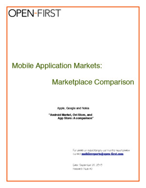 Market Comparison: Nokia Ovi Store, Google Android Marketplace, Apple App Store
