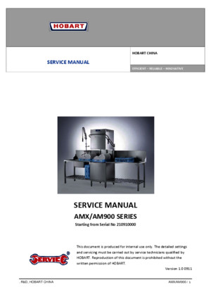 Masina Spalat Vase AMX10 User Manual