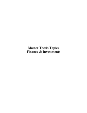 Master Thesis Topics