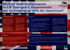 Medical Student Placements in UK Emergency Departments: Are we keeping up with the Americans? (Landscape version)