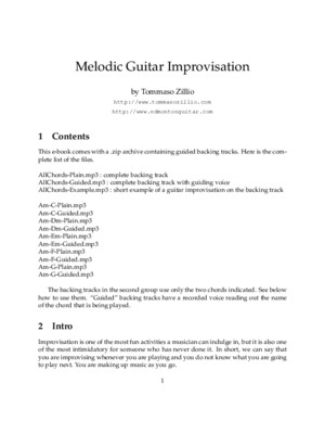 Melodic Guitar Improvisation