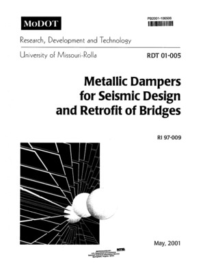 Metallic Dampers for Seismic Design and Retrofit of Bridges