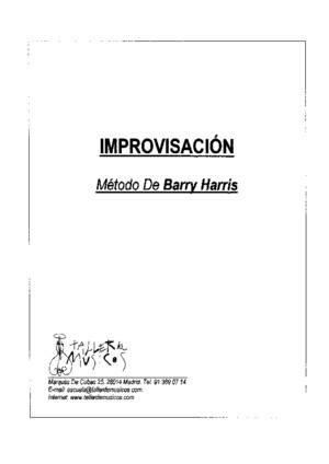 Metodo de Improvisacion de Barry Harris 2pdf