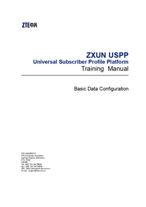 7 ZXUN USPP(HLR) BC en Commissioning and Debugging(Basic Data Configuration) 2 PDF 201008(Draft) 164