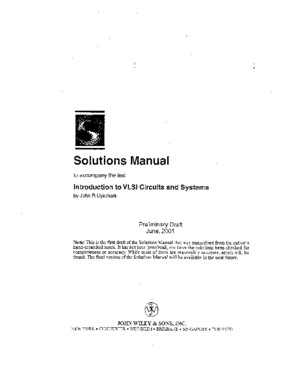 7118057 Introduction to VLSI Circuits and Systems 2001 Draft John P Uyemura Solutions Manual