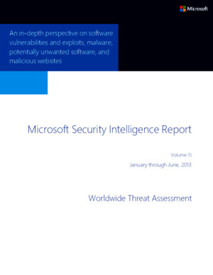 Microsoft Security Intelligence Report Volume 15 Worldwide Threat Assessment English