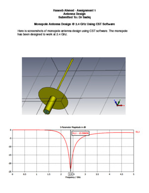 Monopole Antenna Design in CST