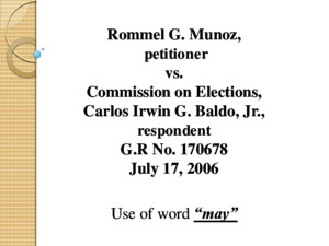 Munoz vs Comelec Final