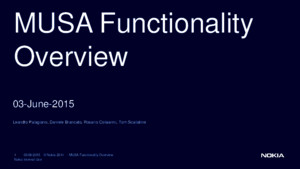 MUSA Functionality Overview