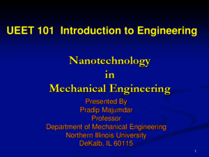 Nanotech in Mechanical Engineering