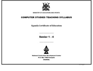 NCDC Computer Studies Teaching Syllabus 2008