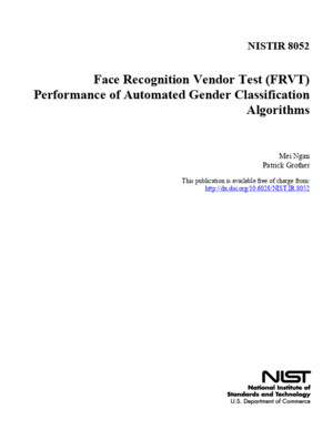 NIST - Face Recognition Vendor Test Performance of Automated Gender Classification Algorithms