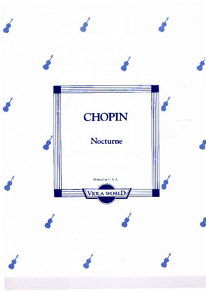 Nocturne C sharp minor No 20 F Chopin Viola & Piano