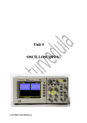 Notes on Oscilloscopes