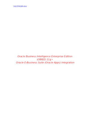 OBIEE Integration With Oracle Apps