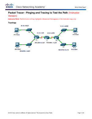 8326 Packet Tracer - Pinging and Tracing to Test the Path Instructions IG