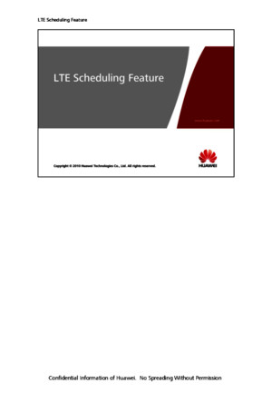 OEO100040 LTE Scheduling Feature and Parameters ISSUE100pdf