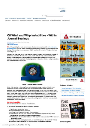 Oil Whirl and Whip Instabilities - Within Journal Bearingspdf