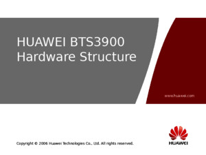 OME501101 HUAWEI BTS3900 Hardware Structure ISSUE10ppt