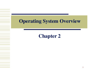Operating System Overview Chapter 2 Operating System A program that controls the execution of application programs An interface between applications