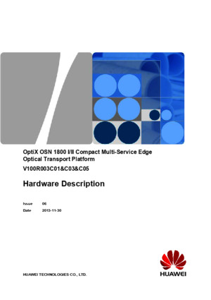 OptiX OSN 1800 I II Compact Hardware Description(V100R003)