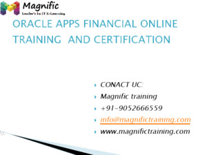 Oracle apps financial online training and hyderabad