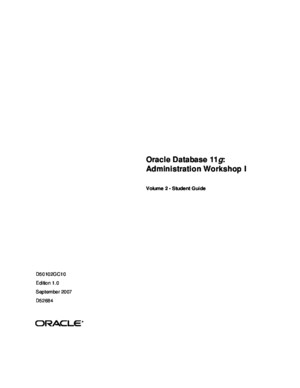 Oracle Database 11g: Administration Workshop I