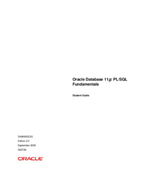 Oracle Database 11g SQL Fundamentals II - Student Guide