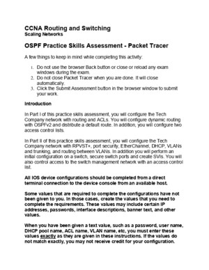 OSPF Practice Skills Assessment - Packet Tracer