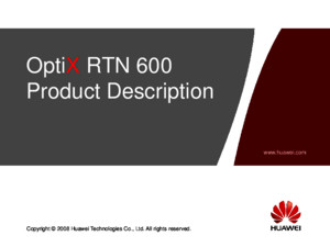 OTF101101 OptiX RTN 600 V100R003 Product Description ISSUE 102