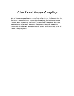 Other Kin and Vampyre Changelings