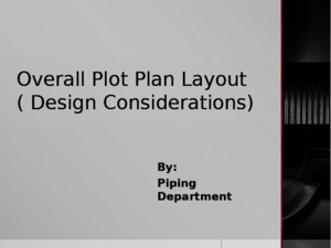 Overall Plot Plan Layout ( Design Considerations)