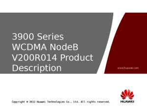 OWB001700 3900 Series WCDMA NodeB V200R014 Product Description ISSUE 102