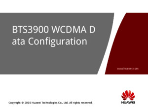 Owb304502 Bts3900 Wcdma v200r012 Data Configuration Issue 200